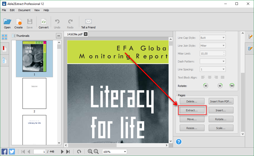 Extract PDF in Able2Extract