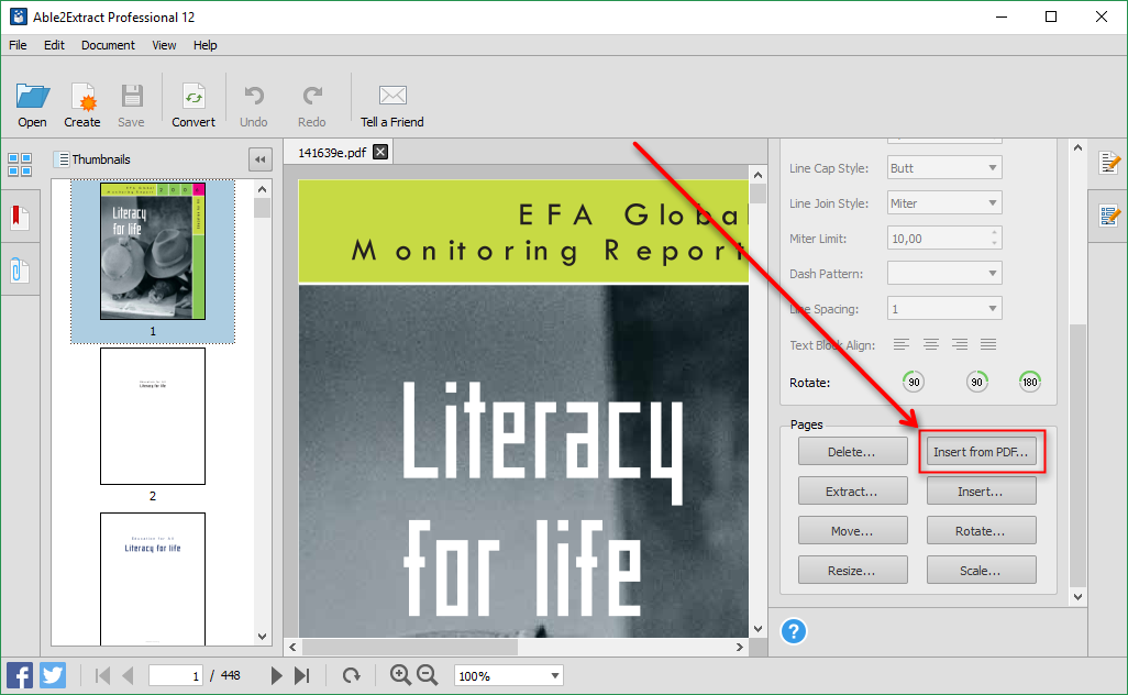 Insert From PDF