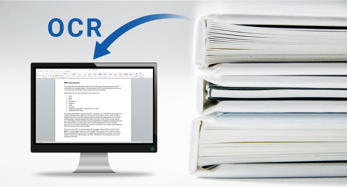 Technology Management Image: OCR Software For Scanned Document And Image Conversion
