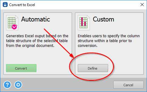Advanced PDF to Excel conversion