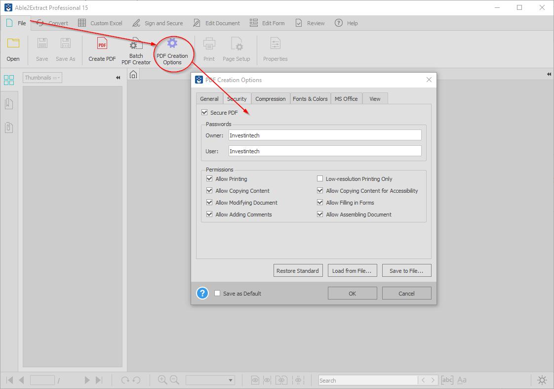 Saving Excel file as PDF
